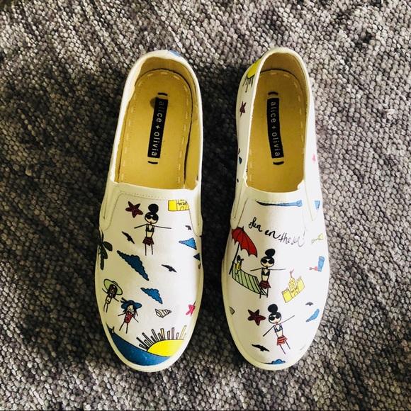 e3c0f0945a77 Alice + Olivia Shoes -  Alice + Olivia  Slip-on Sneakers - SZ